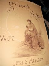 ANTIQUE SHEET MUSIC SUMMER DREAMS WALTZ JESSIE MORISON PITMAN 4384